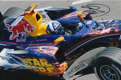 David Coulthard Hand Signed 9x6 Photo - Formula 1 Autograph F1 Red Bull 1.