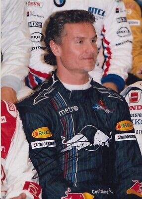David Coulthard Hand Signed 7x5 Photo - Formula 1 Autograph Red Bull F1.