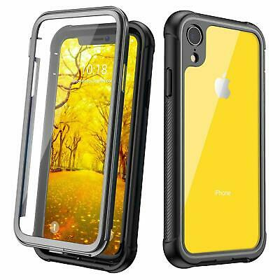 Justcool Designed for iPhone XR Case Clear Full Body Heavy Duty Protection BLACK