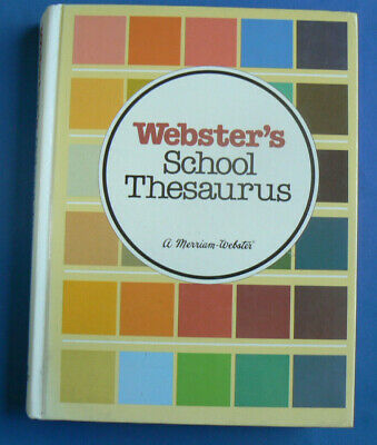 Webster's School THESAURUS 1978 Nice HC Middle School,gr.6-8