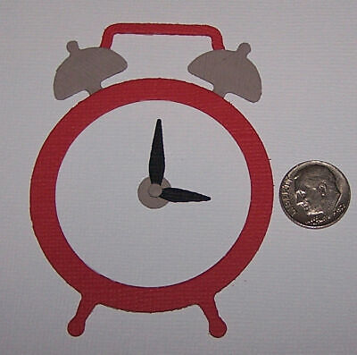 2 Alarm Clocks Premade PAPER Die Cuts / Scrapbook & Card Making