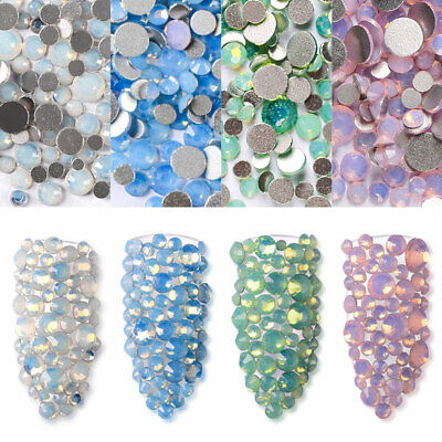 4 Colors Crystal Rhinestone Flat Back Diamante Acrylic Gems Nail Art Tips Decor
