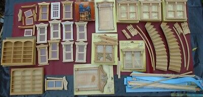 Huge Houseworks Dollhouse Lot: Windows/Doors/Curved Stairs, Etc.
