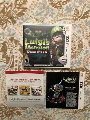 (CASE AND INSERTS ONLY) (NO GAME ) (3DS) Luigi's Mansion