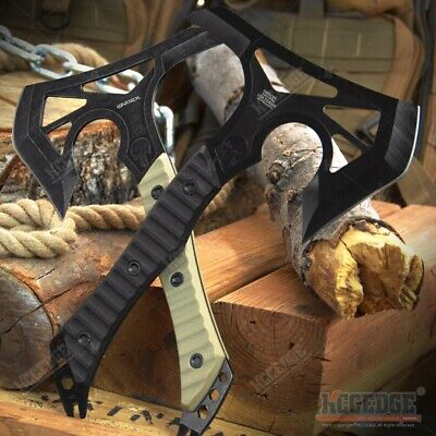 """12"""" PUNISHER SKULL Tactical Hunting Camping Military Survival Rescue Axe Hatchet"""