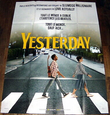 YESTERDAY Danny Boyle Danny Boyle The Beatles Lily James LARGE French POSTER