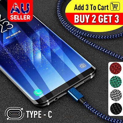 Fast Charger USB C Type-C Data Cable For Samsung S8 S9 S10 Note 10 Plus A50 A70