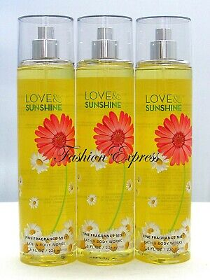 3 Pcs Bath & Body Works Champagne Apple & Honey Body Mist Spray 8 Fl Oz