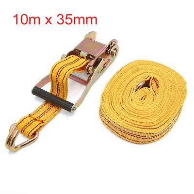 10m x 35mm Yellow Tie Down Bungee Straps Cords Tensioner Kit for Motorcycle Car