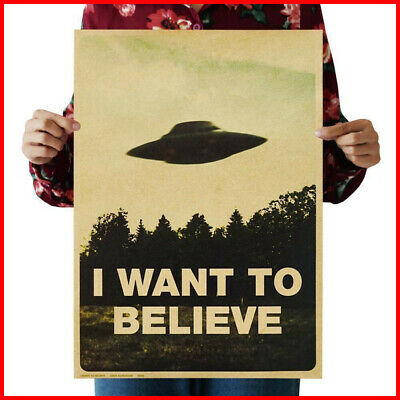 Vintage X-Files Poster I Want To Believe Ufo Poster No Fame From Us