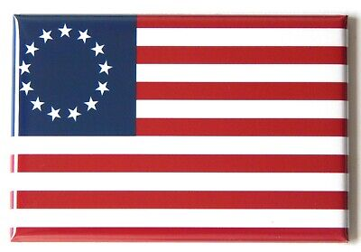 Betsy Ross Flag FRIDGE MAGNET (2 x 3 inches) american flag usa united states