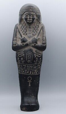 Vintage ancient egyptian ushabti statue stone made in egypt