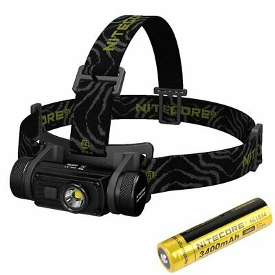 NiteCore HC60 1000LM USB Rechargeable LED Headlamp Head Torch + 18650 Battery