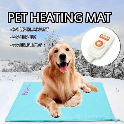 Pet Heat Pad Puppy Electric Heated Mat Blanket Dog Cat Whelping Heating Bed Mat