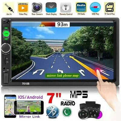 """7"""" 2 Din HD AUTORADIO BLUETOOTH TOUCH SCREEN USB MP5 FM AUX Player Stereo"""