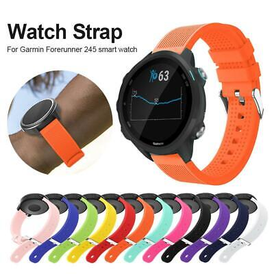 20MM Silicone Replacement Bracelet Strap for Garmin Forerunner 245 Smart Watch