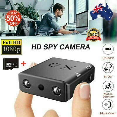 Mini Spy IP Camera Wireless WiFi HD 1080P Hidden Network Monitor Security Cam au