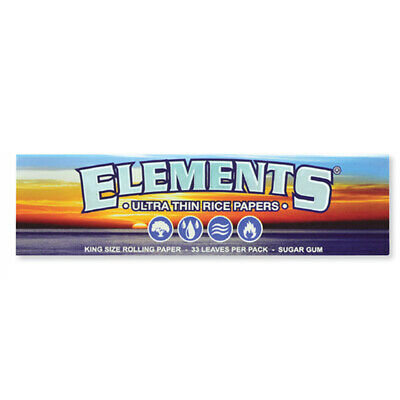 Elements Ultra Rice Paper King Size Rolling Papers
