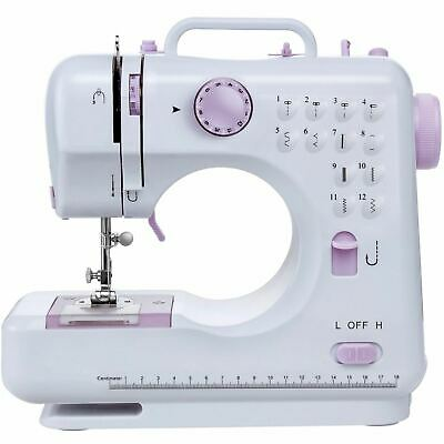 Electric Sewing Machine Multifunction 12 Stitches Portable Mini 2 Speed Tool Kit
