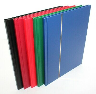 Sarum 4/8 A5 Black Page Stamp Stockbook Album - Various Colours