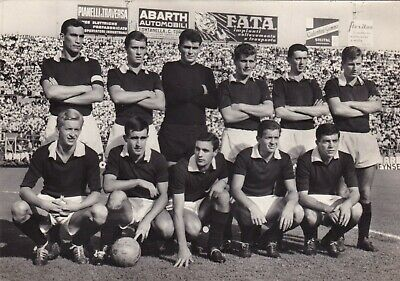 Calcio/Football Cartolina sq. TORINO 1961-'62 con LAW, BAKER,PANETTI originale