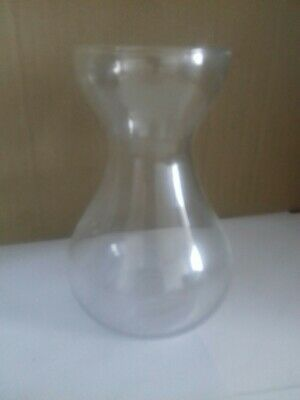 """Small Clear Glass Flower Vase Height 6"""""""