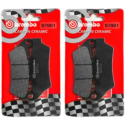 N 2 Pairs Brake Pads Brembo Front Aprilia Srv 850 ABS Atc 850 2013 >