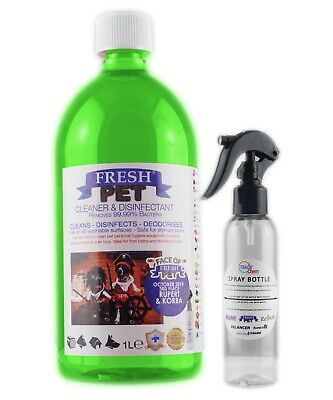 Fresh Pet Disinfectant Cleaner Deodoriser 1L with Trigger Spray Floral