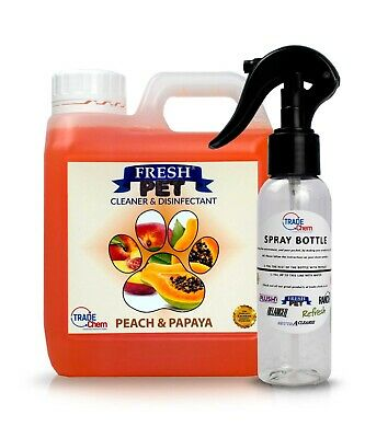 Fresh Pet Disinfectant Cleaner Animal Safe 1L with Trigger Spray Peach & Papaya