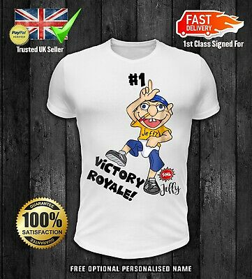 KIDS JEFFY THE RAPPER WHY WHY WHY T SHIRT TSHIRT KIDS boys girls VICTORY ROYALE