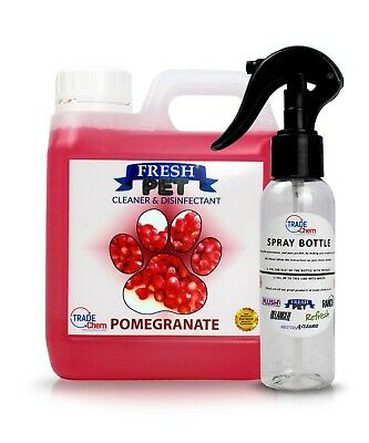 Fresh Pet Disinfectant Cleaner Animal Safe 1L with Trigger Spray - Pomegranate