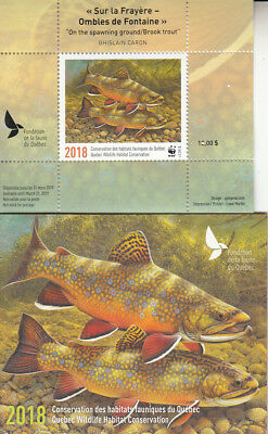Canada MNH Quebec Conservation 2018 WWF  Overprinted  DQ89