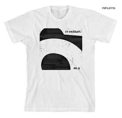 Official T Shirt ED SHEERAN Collaborations Album Cover 'White No. 6'  All Sizes
