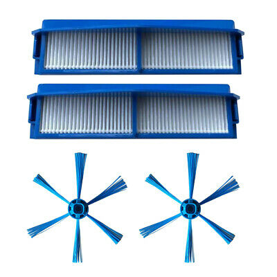 Side Brush+Filter Mesh Set For Philips FC8007 FC8792 FC8794 FC8796 Vacuum Clean
