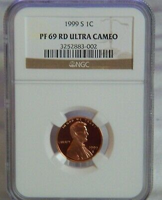 1999 S Lincoln Memorial Cent Pf 69 Rd Ultra Cameo