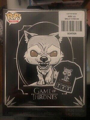 Nymeria Funko Hot Topic Exclusive Pop and Tee Game of Thrones Large Size