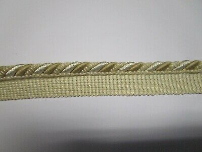 "12 1//2 yds  Italian  CORDING W//LIP  7//16/""   YELLOW//BLUE   Upholstery Fabric Trim"