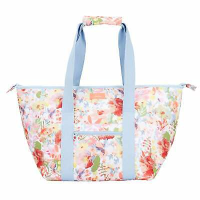 Joules Picnic Carrier Bag Lunch - White Floral One Size