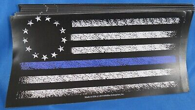 WHOLESALE LOT OF 10 BLUE LINE BETSY ROSS STICKERS TRUMP 2020 $ Support Police