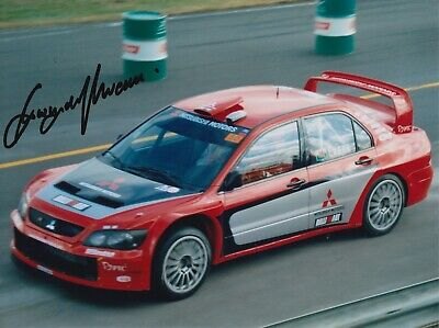Gwyndaf Evans Hand Signed 8x6 Photo - Rally Autograph 1.
