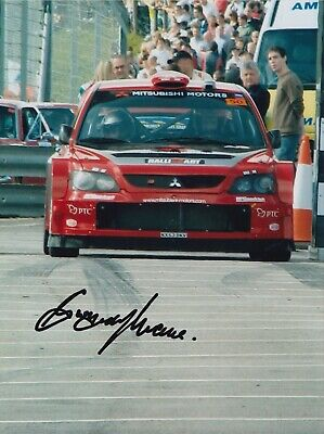 Gwyndaf Evans Hand Signed 8x6 Photo - Rally Autograph 4.