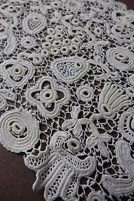 "Length antique Clones Irish Crochet lace 54"" x 8.5"""