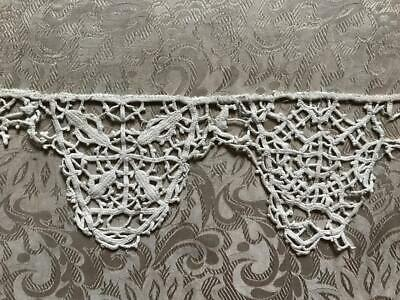 "27"" BEAUTIFUL RARE 17th/18th CENTURY LINEN BOBBIN LACE, ITALIAN FLEMISH 303"