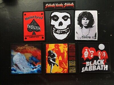 Iron On Patches Rock Metal Punk -Black Sabbath/ Misfits/ Motorhead And More