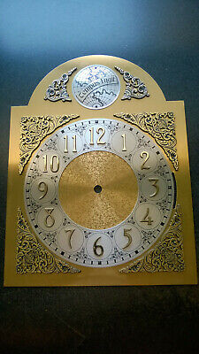 "VTG Grandfather Clock TEMPUS FUGIT FACE 10 X 13"" HERMLE EMPEROR black forest"