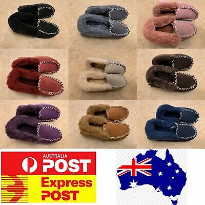 UGG Moccasin Slippers, 100% sheepskins, AU stock, Size Measurement In Women Size