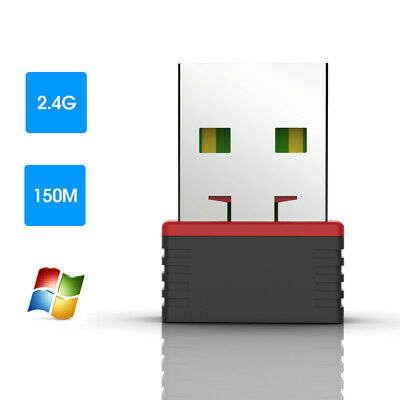 150MBPS USB WIFI Dongle Wireless Adapter for Windows 10 7 Linux HP