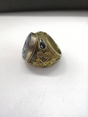 Vintage Afghan Turkmen Kuchi Ring, Belly Dance Ethnic Tribal Jewelry, Boho Ring