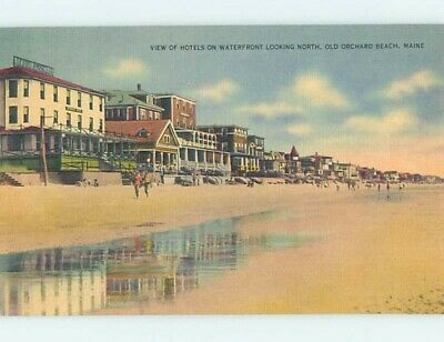 Unused Linen HOTELS ON WATERFRONT Old Orchard Beach Maine ME B1303