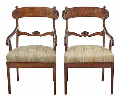 Pair Of 19Th Century Swedish Birch Armchairs